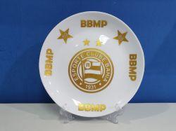 Prato Decorativo Porcelana Dourado