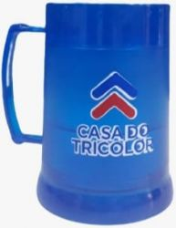 Caneca Chopp com Gel congelante Casa do Tricolor