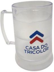 Caneca Chopp com Gel congelante Casa do Tricolor